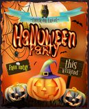 Halloween poster for holiday. EPS 10 Royalty Free Stock Image