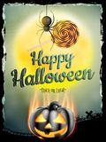 Halloween poster for holiday. EPS 10 Royalty Free Stock Photos