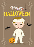 Halloween Poster Mummy Royalty Free Stock Images