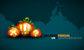 Halloween Poster | Objects Separated on layers nam Royalty Free Stock Photo