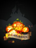 Halloween Poster   Objects Separated on layers nam Royalty Free Stock Photos