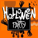 Halloween poster orange abstract Royalty Free Stock Images