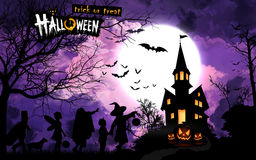 Halloween poster, reminder. Greeting illustration. Royalty Free Stock Photography