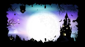 Halloween, poster, silhouette fantasy abstract background vector illustration vector illustration