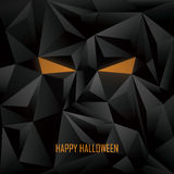 Halloween poster template. Low poly background Stock Photos