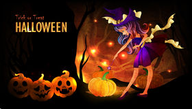 Halloween poster template Royalty Free Stock Images