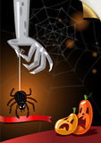 Halloween Poster. Vector illustration. Stock Photo