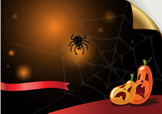 Halloween Poster. Vector illustration. Royalty Free Stock Photos