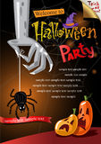 Halloween Poster. Vector illustration. Stock Photography
