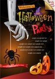 Halloween Poster. Vector illustration. Stock Photography