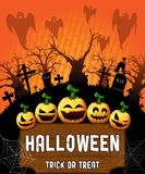 Halloween Poster. Vector illustration. The file is editable and in layers stock illustration