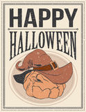 Halloween Poster. Vector illustration. Halloween Poster for using in different spheres Stock Photography