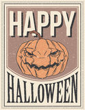 Halloween Poster. Vector illustration. Royalty Free Stock Image