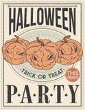 Halloween Poster. Vector illustration. Royalty Free Stock Photo