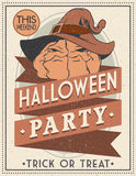 Halloween Poster. Vector illustration. Royalty Free Stock Photography