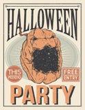 Halloween Poster. Vector illustration. Stock Photos