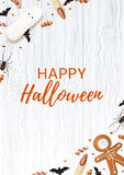 Halloween Poster With Sweets Royalty Free Stock Photo