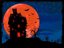 Halloween poster with zombie background. EPS 8 Royalty Free Stock Photo