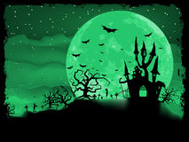 Halloween poster with zombie background. EPS 8 Royalty Free Stock Images