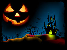 Halloween poster with zombie background. EPS 8 Stock Photography