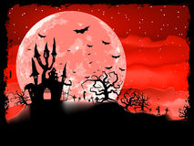 Halloween poster with zombie background. EPS 8 vector illustration