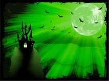 Halloween poster with zombie. EPS 10 Royalty Free Stock Photo