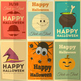 Halloween posters set Stock Images