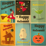 Halloween posters set Stock Photos