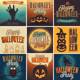 Halloween Posters set. Stock Images