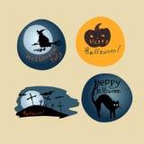 Halloween Posters set. Royalty Free Stock Photos