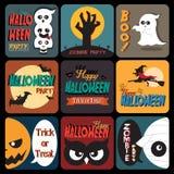 Halloween Posters set Royalty Free Stock Photo