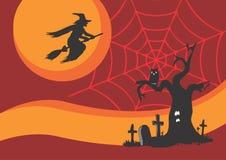 Halloween-Postkarte Stockfotos