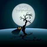 Halloween-Postkarte stock abbildung