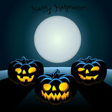 Halloween-Postkarte lizenzfreie abbildung