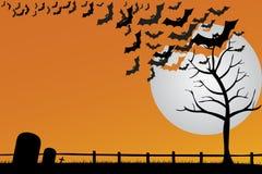 Halloween-Postkarte Lizenzfreie Stockbilder