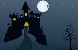 Halloween-Postkarte Stockfotografie
