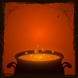 Halloween pot with potion Royalty Free Stock Photography