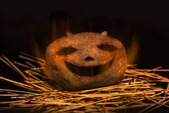 Halloween Potato Royalty Free Stock Photography