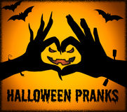 Halloween Pranks Indicates Trick Or Treat And Autumn Stock Images