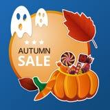 Halloween-Preisschild Stockfoto