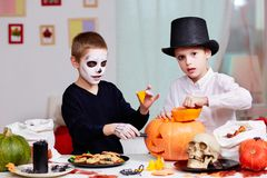 Halloween preparations Royalty Free Stock Photo