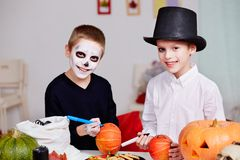 Halloween preparations Royalty Free Stock Photography