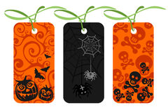 Halloween price tags Royalty Free Stock Images