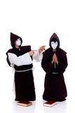 Halloween priests Stock Image