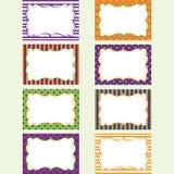 Halloween Printable labels Set.Photo Frame, Gift Tags,Invitation. Stock Photo