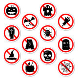 Halloween prohibiting stickers Royalty Free Stock Images