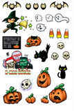 Halloween Props. To decorate your designs or use as stickers Stock Photo