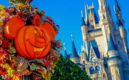 Halloween przy Magicznym królestwem Obraz Royalty Free