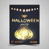 Halloween przyjęcia plakat royalty ilustracja