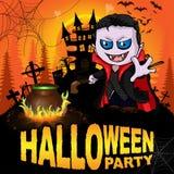 Halloween przyjęcia plakat z Dracula royalty ilustracja